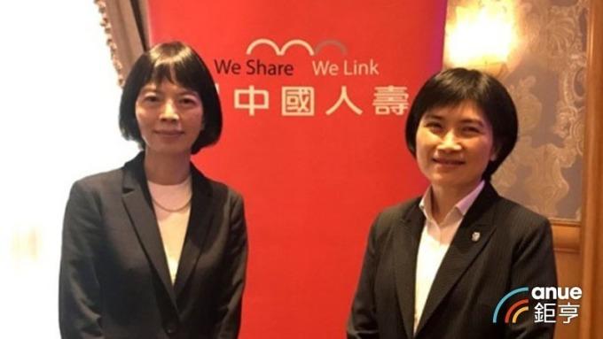 中壽董事長由郭瑜玲(左)接任。(鉅亨網資料照)