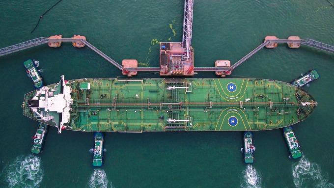 中國2月原油進口反彈 卸貨油輪壅塞情形紓解(圖:AFP)