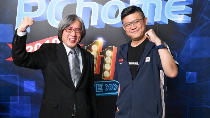 網家董事長詹宏志(左)與總經理蔡凱文(右)。(圖:網家提供)