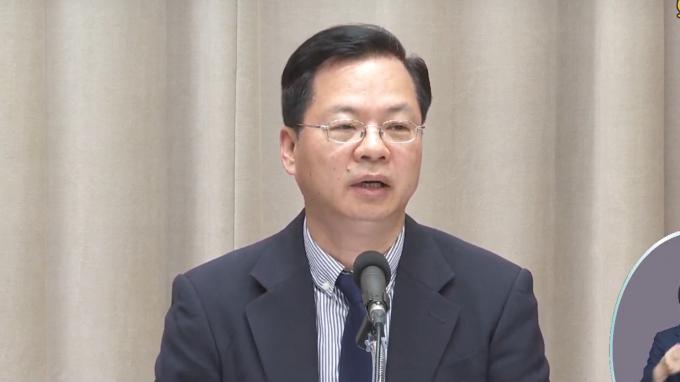政務委員龔明鑫今 (12) 日在行政院會後記者會上信心喊話。(圖:擷取自行政院)
