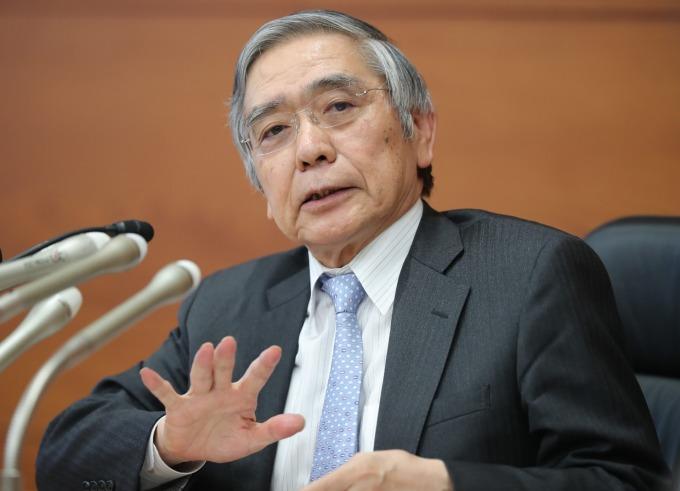 日本央行總裁黑田東彥 (圖片:AFP)