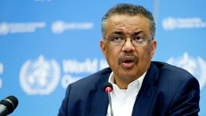 世衛組織秘書長譚德塞呼籲全球各國,檢測、檢測、再檢測! (圖片:AFP)