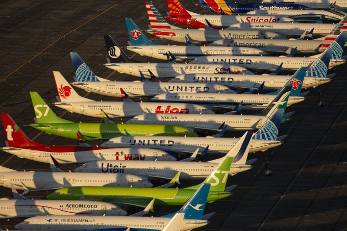 至今仍無法重回天際的大量 737MAX (圖片:AFP)