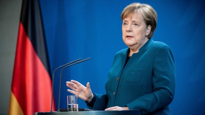繼加拿大總理後 德國總理梅克爾宣布居家隔離。(圖片:AFP)