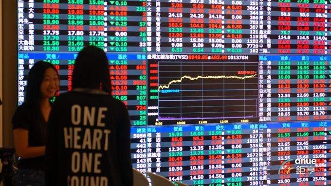〈台股盤後〉美股期指又暴跌 大盤失守9000點及10年線大關。(鉅亨網記者張欽發攝)