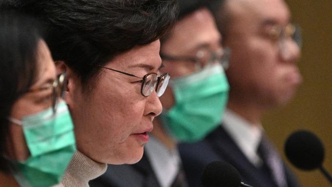 香港25日起禁止非港居民入境 計畫修例禁止酒吧賣酒 (圖:AFP)