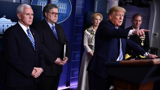 川普:美國「不是用來封鎖關閉的」 已打電話感謝鮑爾(圖:AFP)