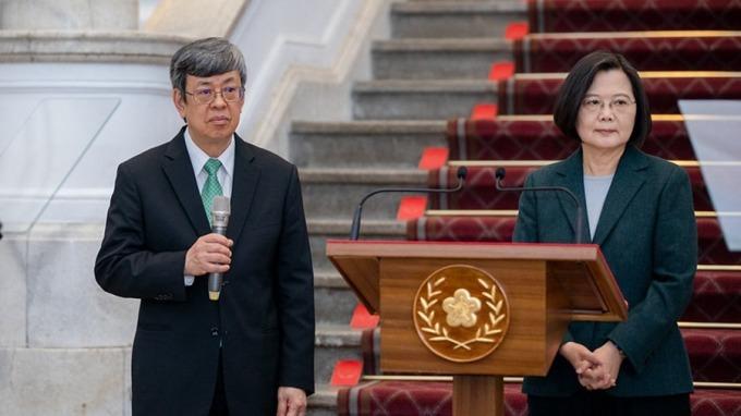 副總統陳建仁(左)、總統蔡英文(右)。(圖:總統府提供)