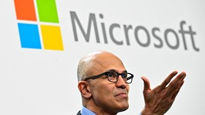 微軟CEO:供應鏈重回正軌 但歐美市場需求仍疲弱(圖片:AFP)