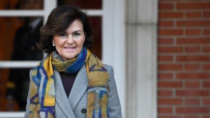 西班牙副首相中鏢!新冠病毒二採檢呈陽性。(圖片:AFP)