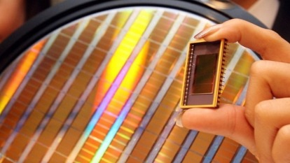 三星NAND Flash晶片。(圖:AFP)