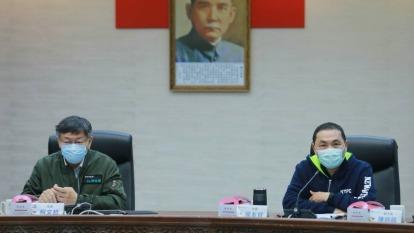 台北市長柯文哲與新北市長侯友宜共同宣布,兩市將以「資源共享」為原則,超前部署、並肩抗疫。(圖:新北市政府提供)
