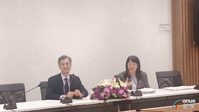 國庫署署長蕭家旗(左)、副署長顏春蘭(右)。(鉅亨網記者郭幸宜攝)