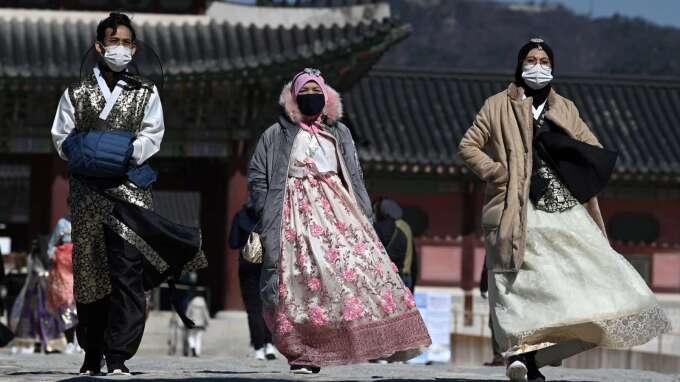 肺炎重創南韓觀光業 外國遊客暴減4成、關閉機場免稅店 (圖片:AFP)