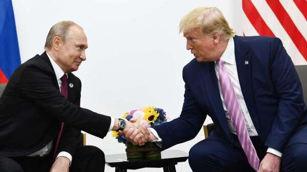 川普介入與普丁熱線 (圖片:AFP)