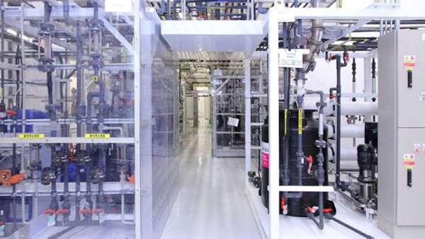 台積電晶圓14廠第五期再生水系統。(圖:取材自台積電企業社會責任官網)