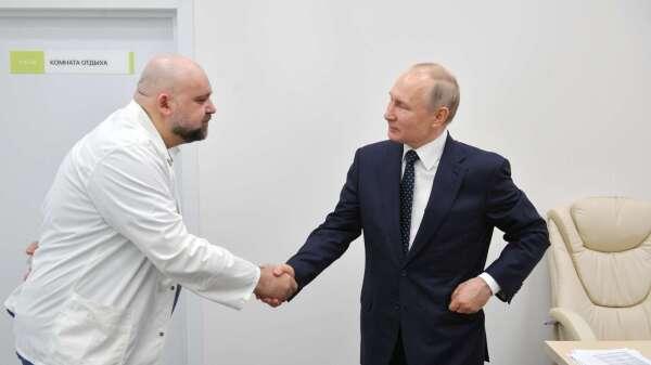 普丁也很危險!上週才剛與染疫醫生握手。(圖片:AFP)