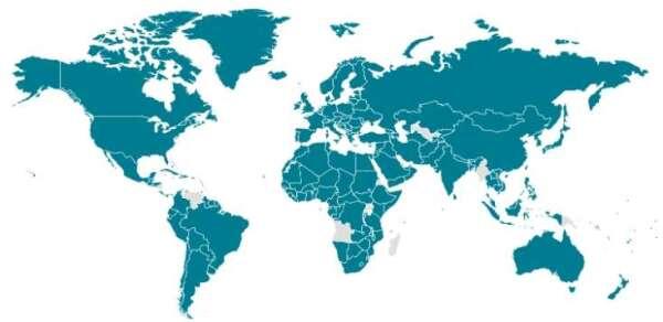 全球超過 205 個國家出現確診病例。(圖片:CDC)