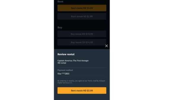 iPhone 用戶可用儲存在亞馬遜的信用卡租賃和購買電影。