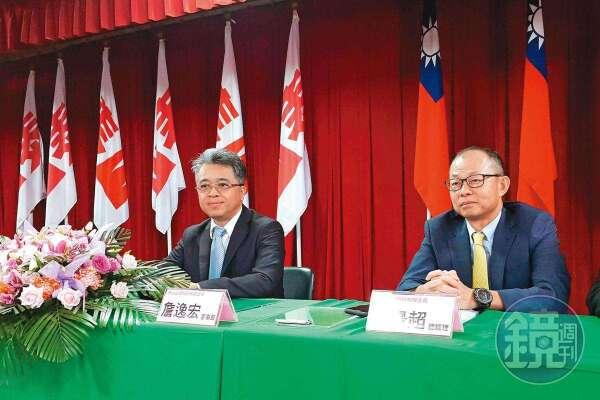 龍邦強勢買股牽動經營權變化,讓詹逸宏(左)、詹景超(右)繃緊神經。