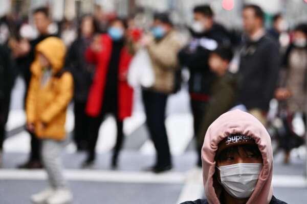 武漢肺炎導致日本當地的國外遊客大幅減少 (圖片:AFP)