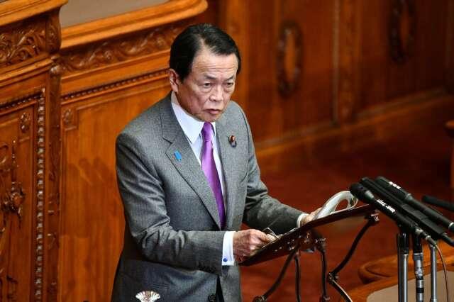 日本副首相兼財務大臣的麻生太郎 (圖片:AFP)