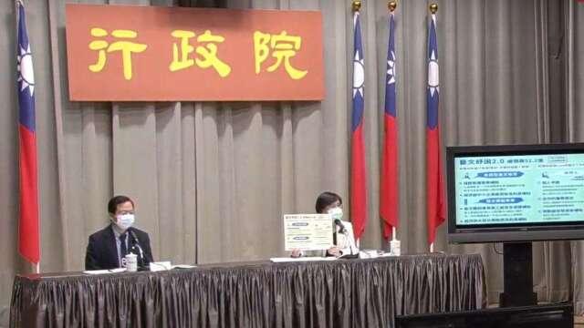 行政院政務委員龔明鑫(左)、文化部長鄭麗君(右)。(圖:擷取自行政院)