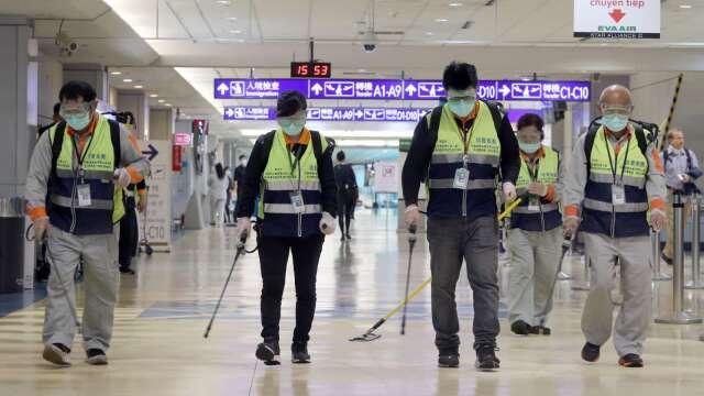 桃機單日旅運量不到700人次史上新低 第1航廈入境掛蛋。(圖:AFP)