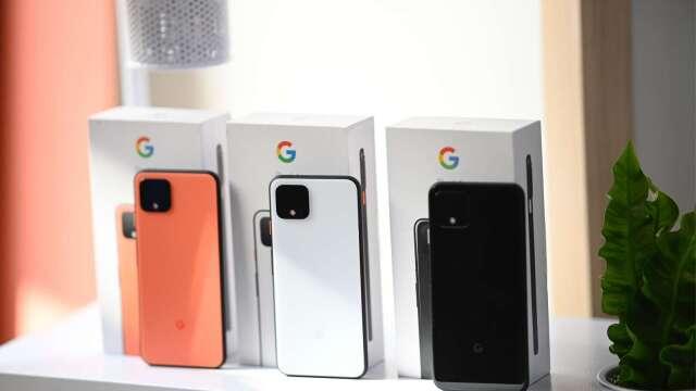 Google開發的智慧手機Pixel 4(圖片:AFP)