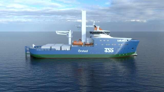 沃旭與大三商航運簽15年租約 打造首艘台灣籍離岸風電運維船。(圖:沃旭提供)