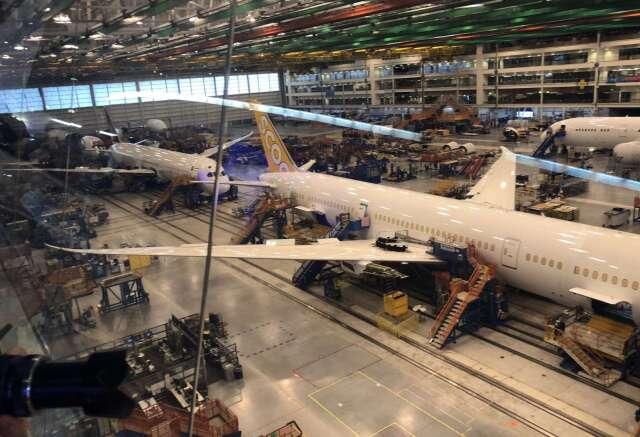 波音生產未消化 日本速霸陸、川崎重工飛機零件工廠停工 (圖片:AFP)