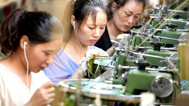 中國首季GDP年減6.8% 有紀錄以來首度負成長(圖:AFP)