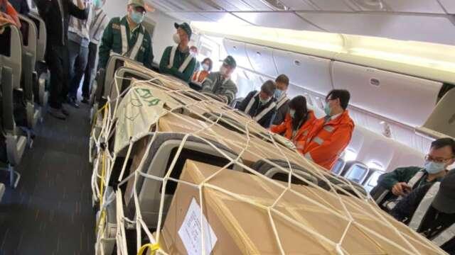 民航局核准國籍業者所提的客艙載貨申請案。(圖:民航局提供)