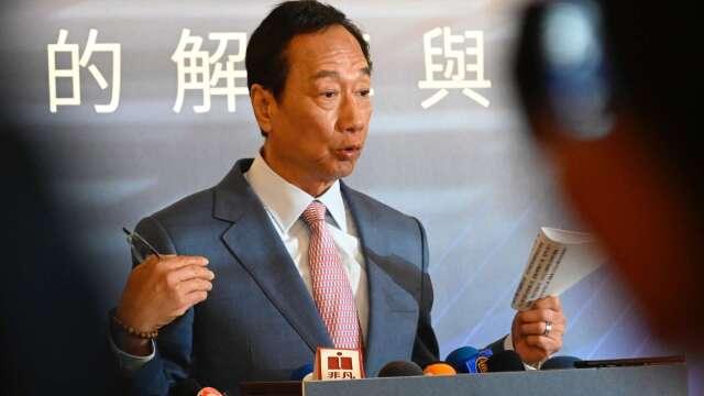 鴻海集團創辦人郭台銘。(圖:AFP)