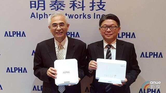 明泰董事長李中旺(左)及總經理林裕欽。(鉅亨網資料照)