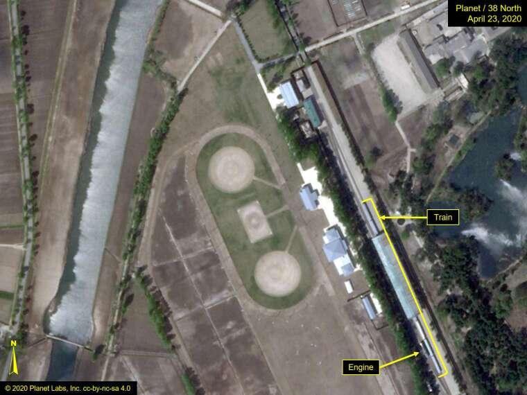38 North 所公布的衛星照片 (圖片:AFP)