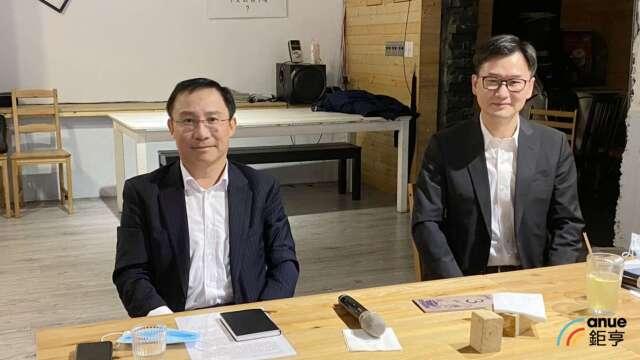 左為永大董事長許作名、右為總經理蔡尚育。(鉅亨網記者沈筱禎攝)