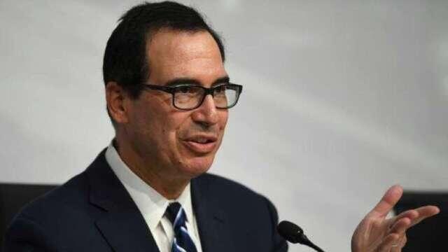 梅努欽:小型企業貸款申請逾2百萬美元 將會嚴加審核(圖:AFP)