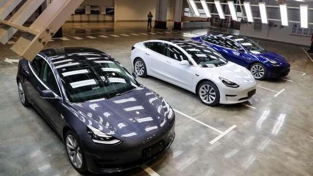 特斯拉將中國製Model 3售價下調10% 助車主獲得政府補貼(圖片:AFP)