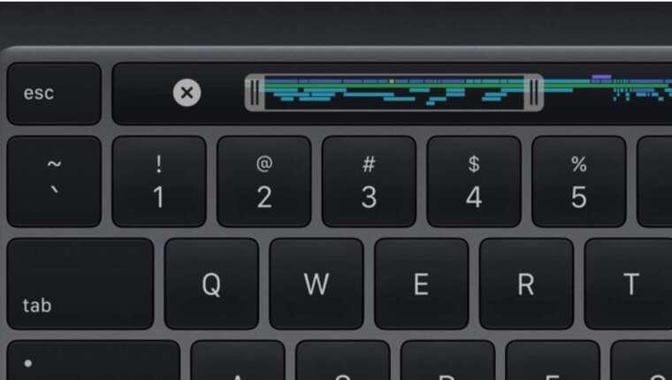 新一代 MacBook Pro 一樣配有 Touch bar,惟將 ESC 鍵改為實體鍵 (圖:appleinsider)