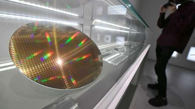 矽晶圓示意圖。(圖:AFP)