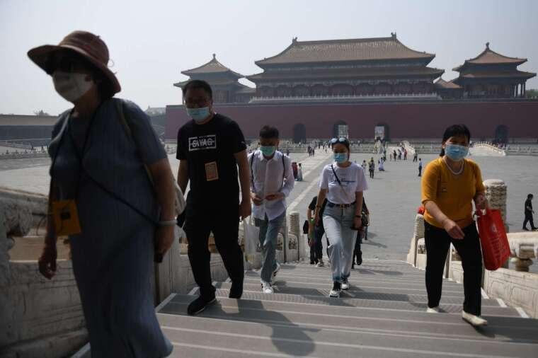 今年五一連假的紫禁城 (圖片:AFP)