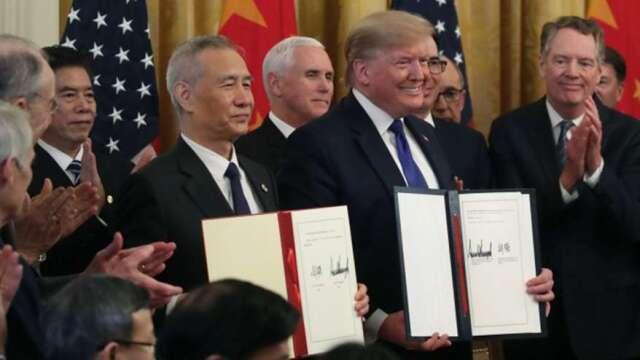 「一階貿易協議」採購嚴重落後 中國今年來僅買220億美國商品    (圖:AFP)