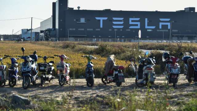 特斯拉上海工廠(圖片:AFP)