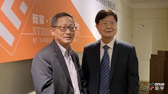左為瑞磁創辦人何重人,右為董事長李家榮。(鉅亨網記者沈筱禎攝)