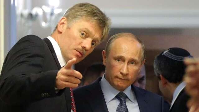 俄總統普丁 (右) 的發言人兼新聞秘書佩斯科夫 (左) 已證實感染新冠病毒(圖片:AFP)