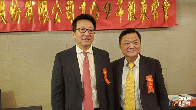 中航董事長彭士孝(左)和總經理戴聖堅(右)。(鉅亨網記者王莞甯攝)
