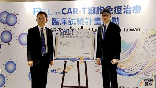 左為沛爾創辦人林成龍,右為百瑞精鼎副總裁楊宜寰。(鉅亨網記者沈筱禎攝)