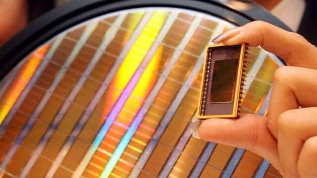 NAND Flash晶片示意圖。(圖:AFP)