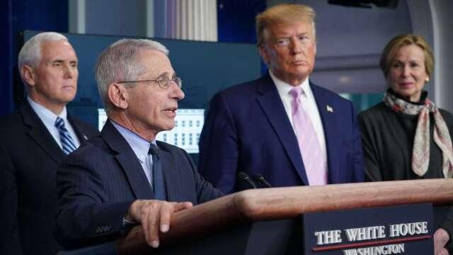 佛奇對過早重啟經濟提出警告 川普:這種說法「無法接受」(圖:AFP)